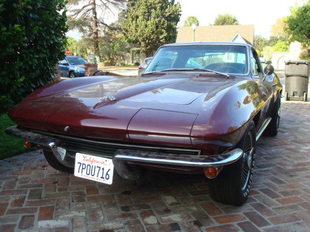 1965 corvette coupe w rare 327 365 hp engine. Black Bedroom Furniture Sets. Home Design Ideas
