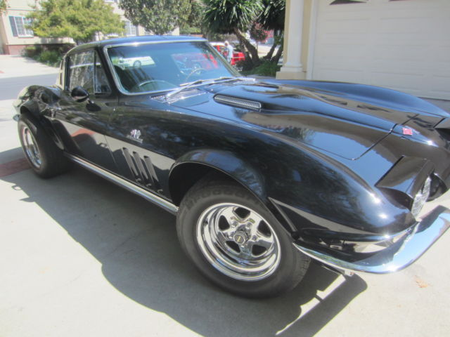 1965 Corvette Stingray Muscle Car Black W Ghost Flames Coupe