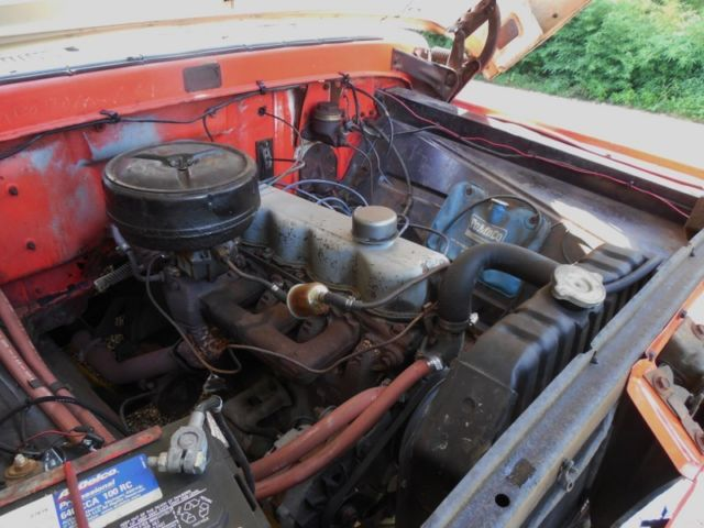 Ford F Custom Cab Pick Up Truck Cubic Inch Cylinder on Ford 300 Straight 6 Engine