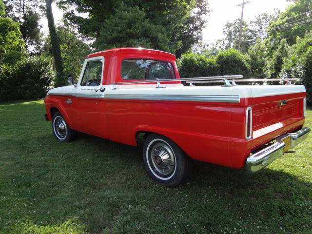 1965 ford f 100 custom cab pick up truck 300 cubic inch 6 cylinder. Black Bedroom Furniture Sets. Home Design Ideas
