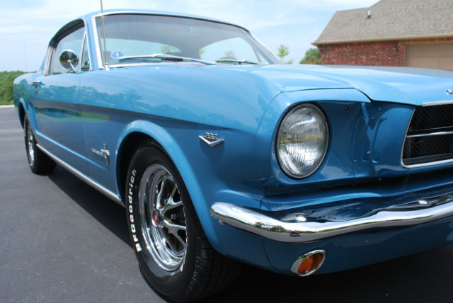 1965 Mustang Fastback Special Paint Code Marlin Blue Red Awesome Driver