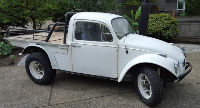 1965 White Volkswagen Baja Bug Truck