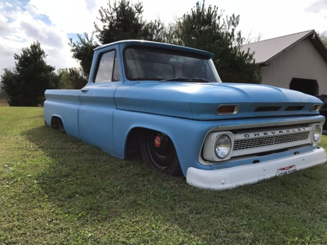 1966 C10 Bagged Ls 5 3 4l60e Injected Patina Shop Truck