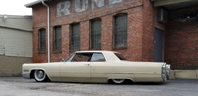 1966 Cadillac Coupe Deville Bagged Body Drop Patina