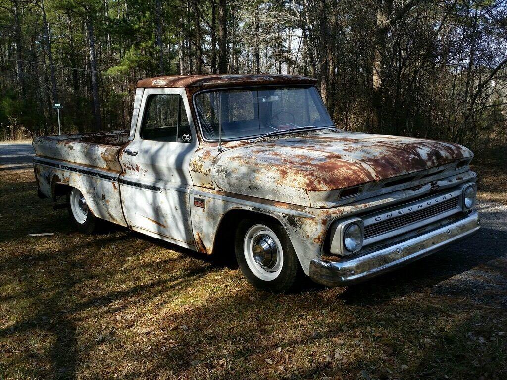1966 Chevrolet C10 Shop Truck Rat Rod Killer Patina Short Bed Big Chevy Trucks For Sale Back Window