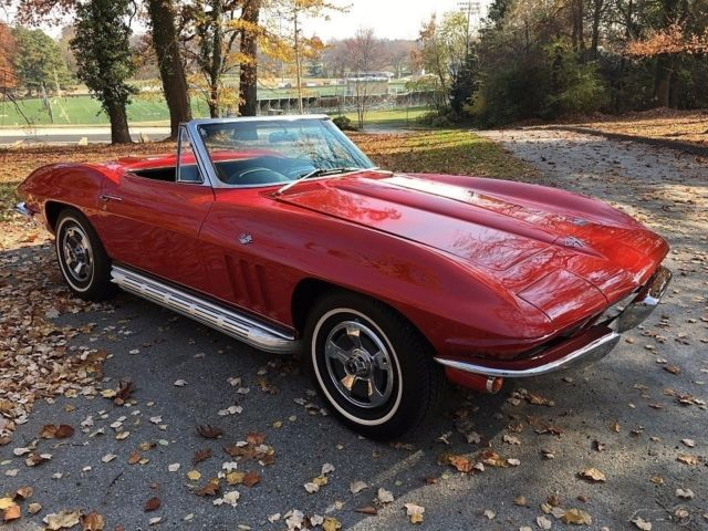 1966 chevrolet corvette stingray convertible original. Black Bedroom Furniture Sets. Home Design Ideas