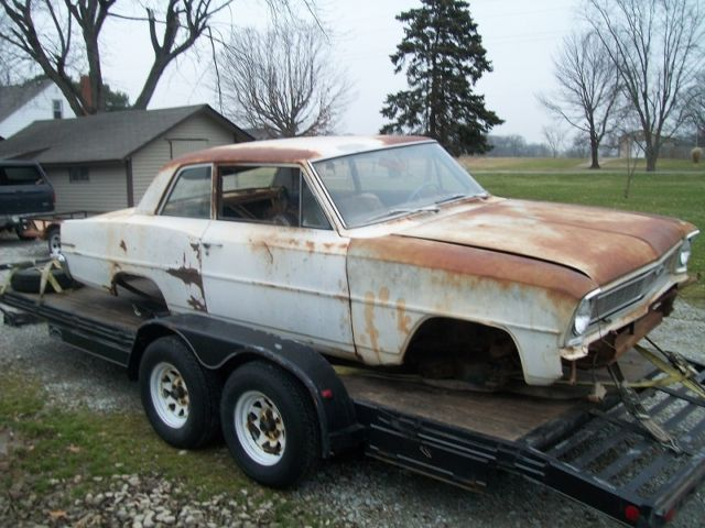 1966 Chevrolet Nova 2 door post Kansas Car, solid project ...