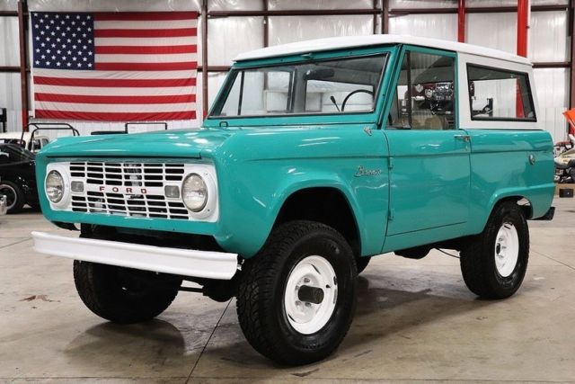 1966 Ford Bronco 51312 Miles Teal SUV 6 Cylinder 3 Speed ...