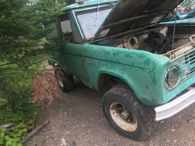 1966 Ford Bronco Clear Title UNCUT With 1967 289 Parts Truck
