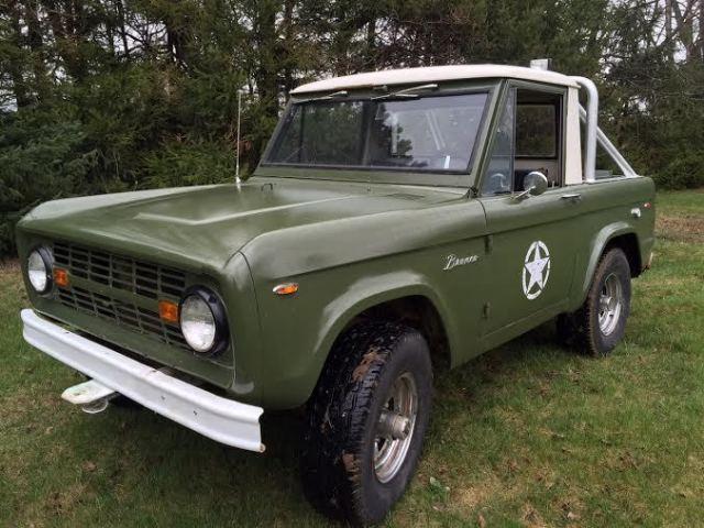 1966 ford bronco u15 half cab clone 6 cylinder runs great. Black Bedroom Furniture Sets. Home Design Ideas