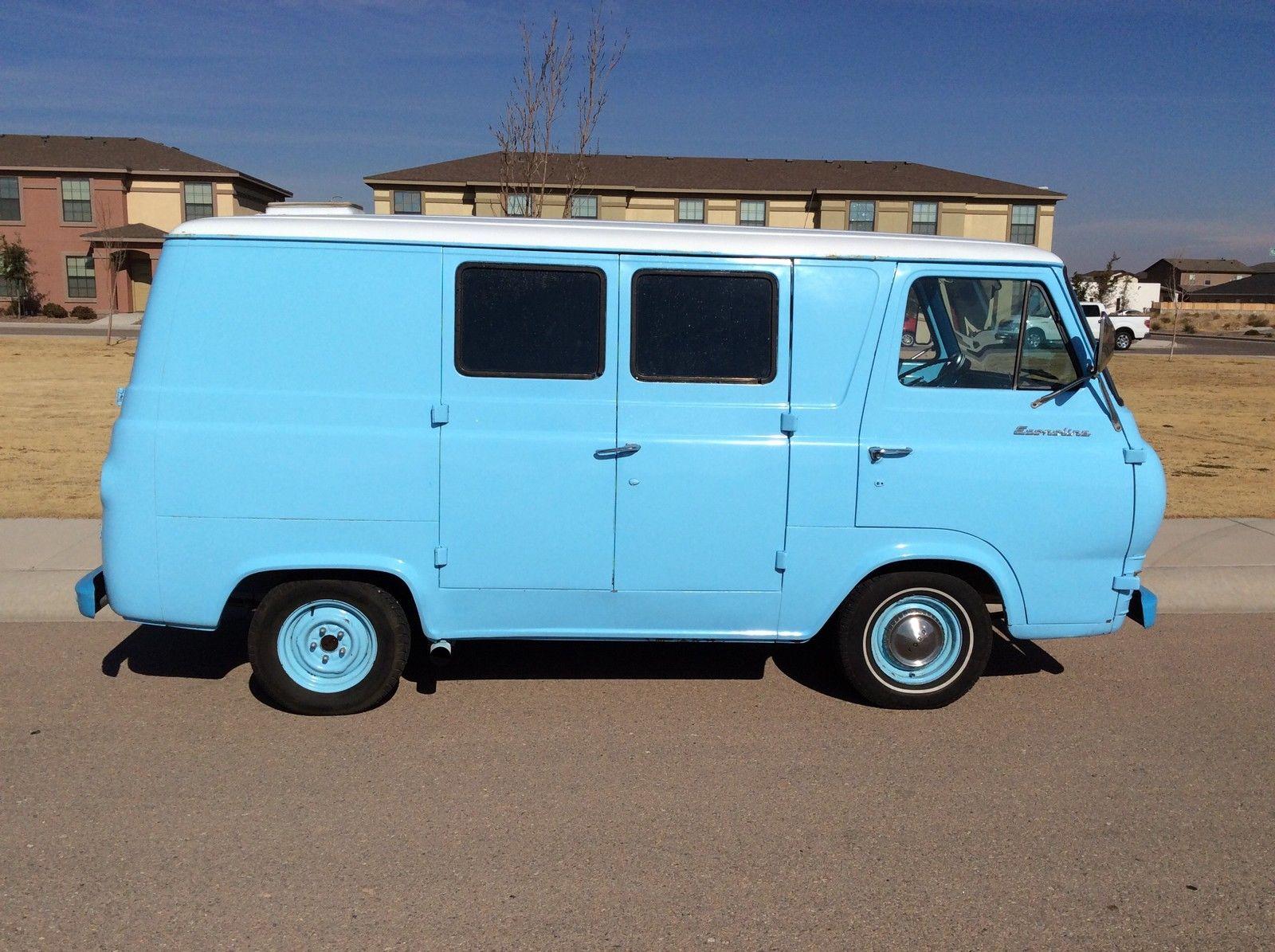 1966 ford econoline blue van. Black Bedroom Furniture Sets. Home Design Ideas