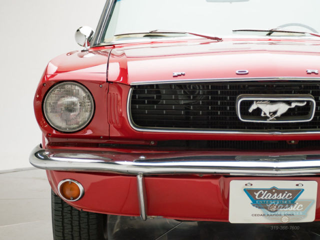 1966 ford mustang convertible 289 v8 c code convertible red. Black Bedroom Furniture Sets. Home Design Ideas
