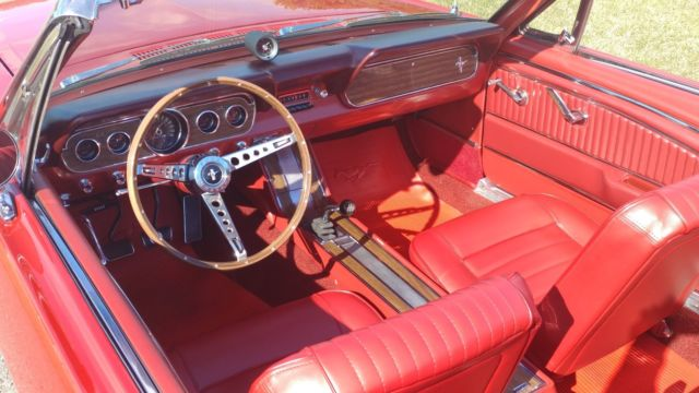 1966 Ford Mustang Gt Convertible 4 Speed Pony Interior Rotisserie Restored