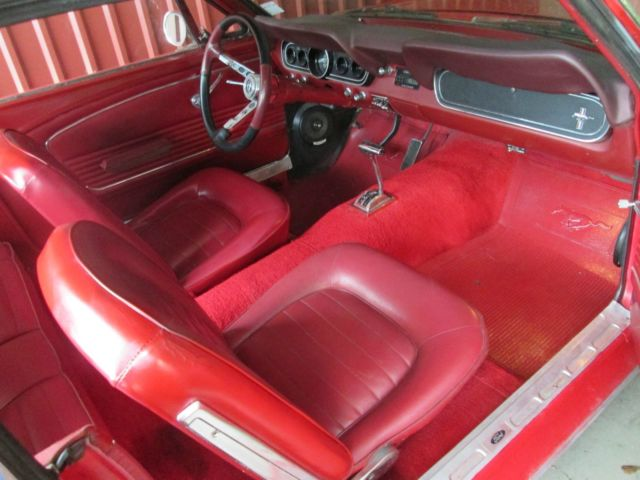 1966 ford mustang red 100k miles for 1966 ford mustang floor mats