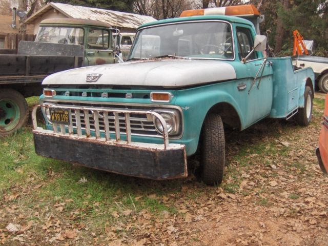 1966 ford tow truck f350 1ton 352 motor 4 speed custom for Ford truck motors for sale