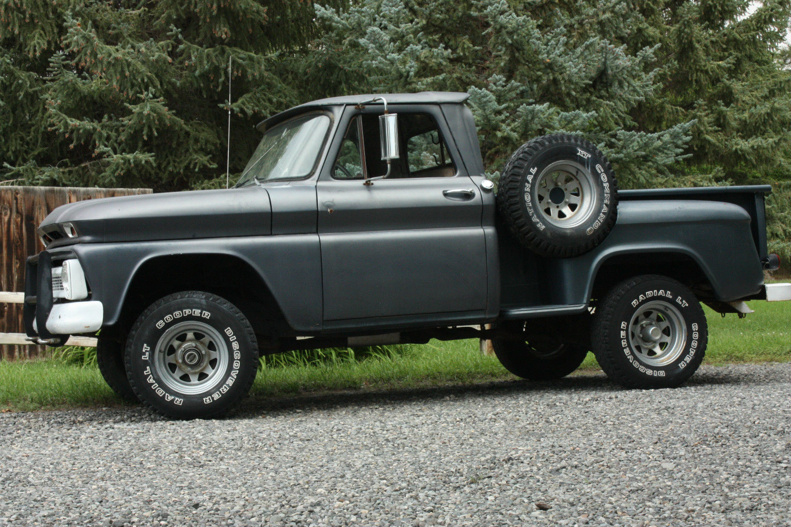 1966 k10 chevrolet 4 wheel drive short box step side lowered reserve. Black Bedroom Furniture Sets. Home Design Ideas