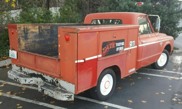 1967 chevrolet c10 swb short wheel base utility fire truck. Black Bedroom Furniture Sets. Home Design Ideas