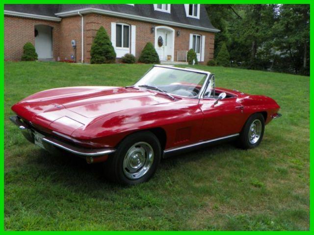 1967 chevrolet corvette roadster 327 350 4 spd 950 miles on rebuild. Black Bedroom Furniture Sets. Home Design Ideas