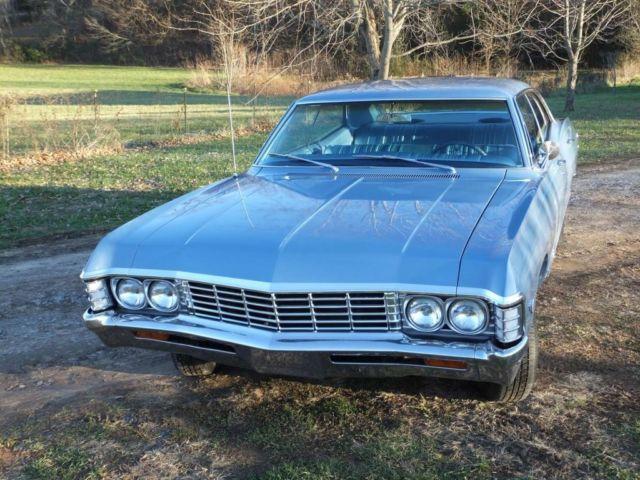 1967 Chevrolet Impala 2 Door Hardtop 327 Car Left Rear View
