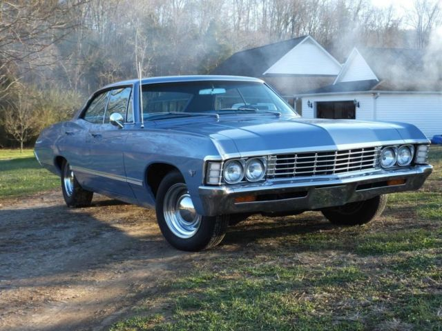 1967 chevy impala 4 door hardtop a c 67 chevrolet 4dr 4 dr w air conditioning. Black Bedroom Furniture Sets. Home Design Ideas