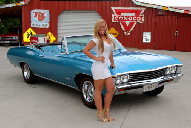 1967 Chevy Impala Ss 396 S Matching 396 Convertible Ps Pb