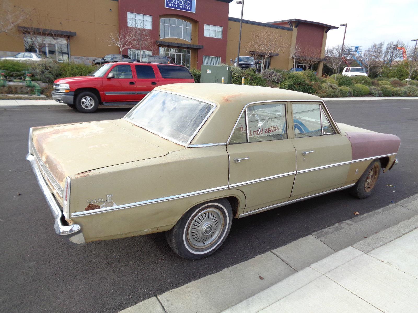 1967 chevy nova 4 door project car runs and drives. Black Bedroom Furniture Sets. Home Design Ideas