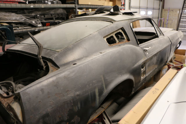 67 Mustang Fastback Project Car For Sale >> 1967 Ford Mustang GT Fastback Body Bodies Raven Black 390 ...