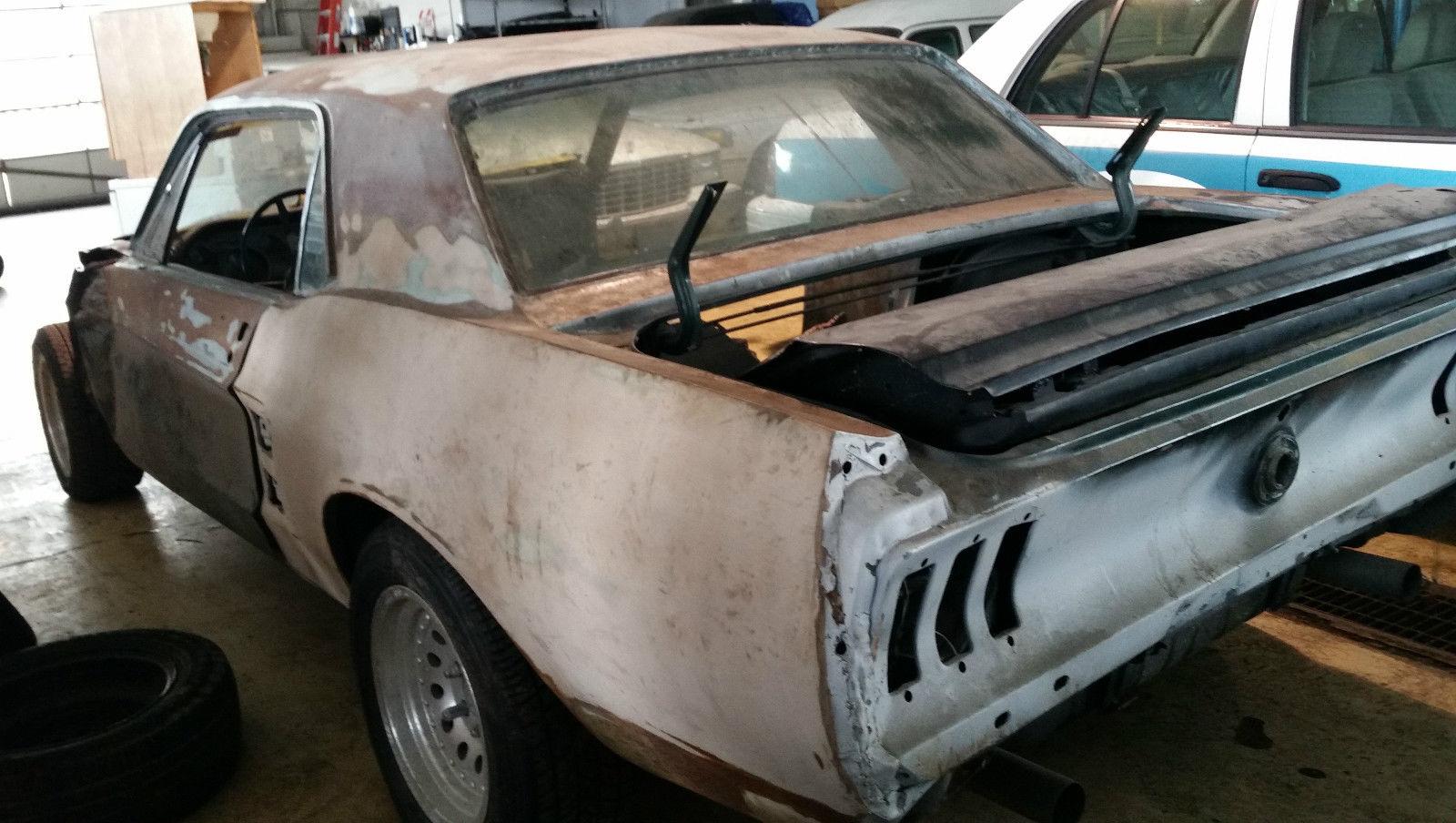 1967 ford mustang v8 project car no reserve for sale in cincinnati ohio united states. Black Bedroom Furniture Sets. Home Design Ideas