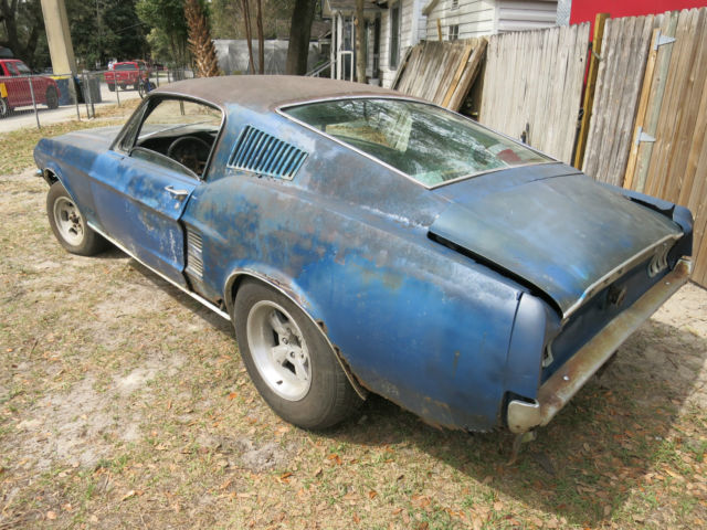 1967 Ford Mustang Fastback Project Car For Sale: 1967 Mustang Fastback 7T02A204493 Project Car Eleanor Bulitt