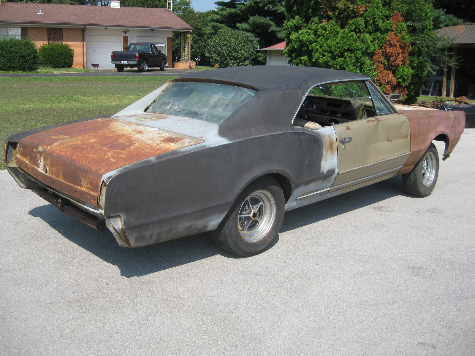 1967 olds cutlass project car. Black Bedroom Furniture Sets. Home Design Ideas