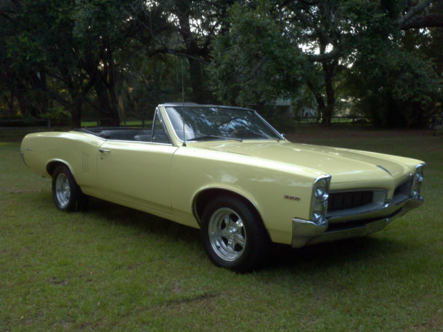 1967 pontiac lemans convertible 326 v8 4 speed manual air