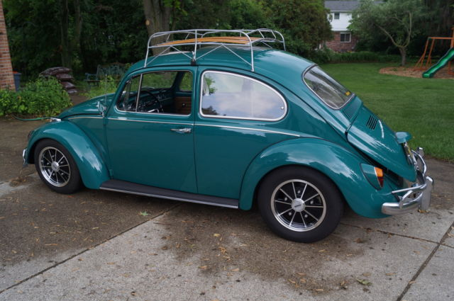 1967 Volkswagen Sunroof Beetle Java Green Cal Look Brm Vw Empi Radio