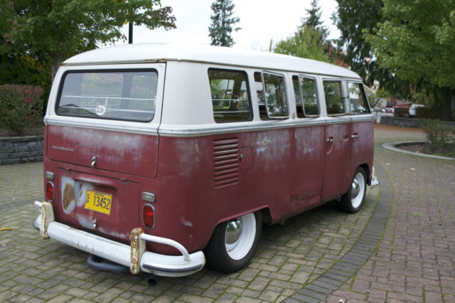 1967 Vw Bus 13 Window Deluxe Kw Barndoor 15 Window 21 Window 23 Window