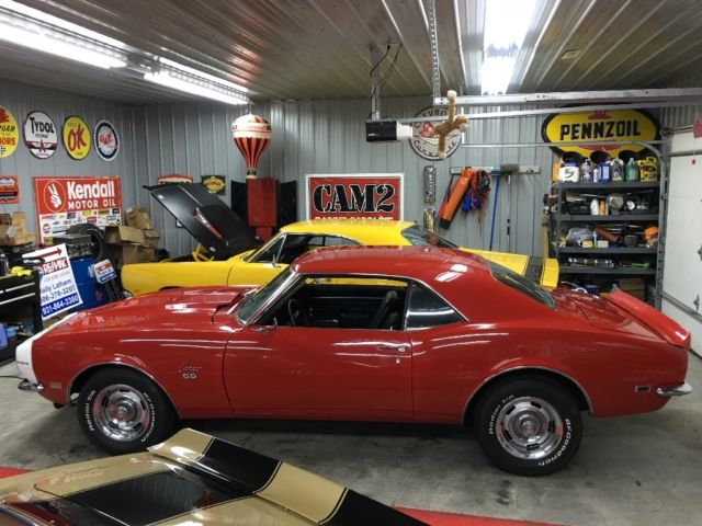 1968 Camaro Ss 396 4sp No Reserve Barn Find Red 1967