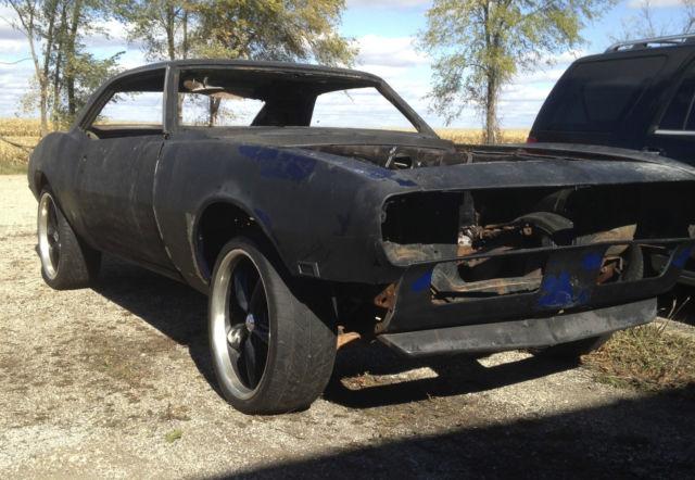 1968 chevy camaro roller project car z28 ss 350 396 copo 67 69 firebird. Black Bedroom Furniture Sets. Home Design Ideas