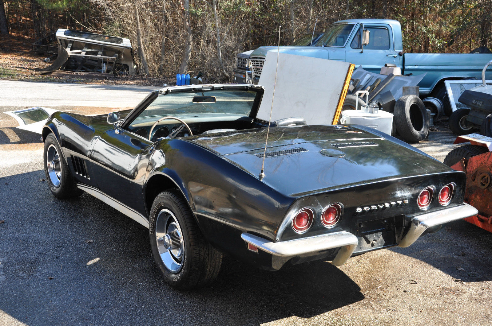 1968 corvette convertible 327 4 speed 1969 1970 1971 project no rust chevrolet. Black Bedroom Furniture Sets. Home Design Ideas