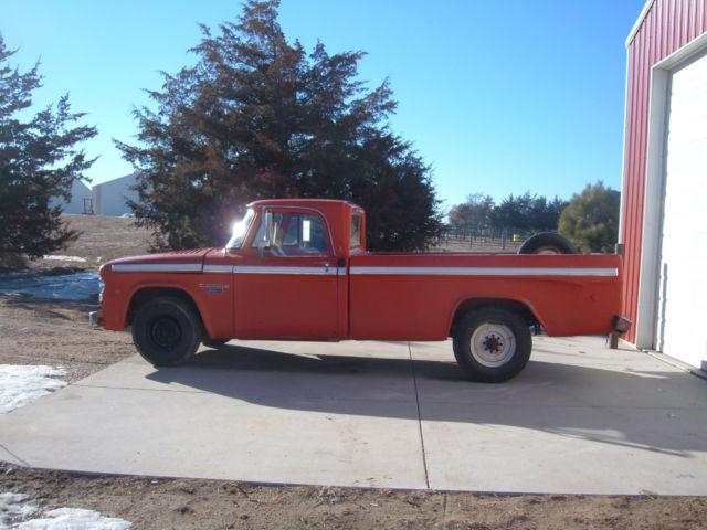 1968 Dodge Camper Special Pickup Truck V8 Engine Four Sd Manual Transmission
