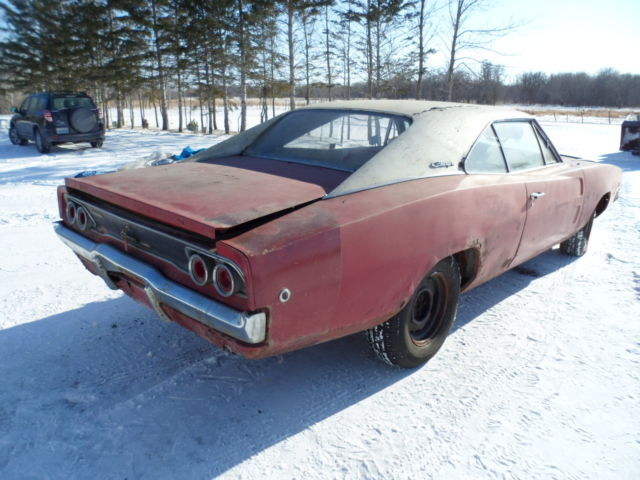 1968 Dodge Charger 318 V8 A/T Buckets Console Barn Find