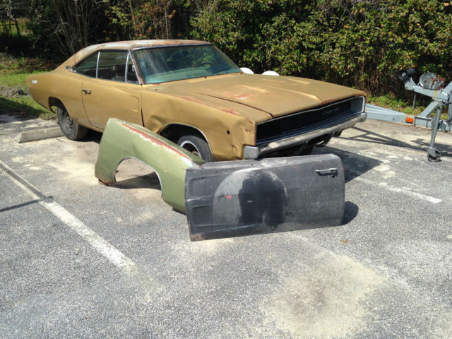 1968 Dodge Charger Project Car Great Grille Factory A C Car