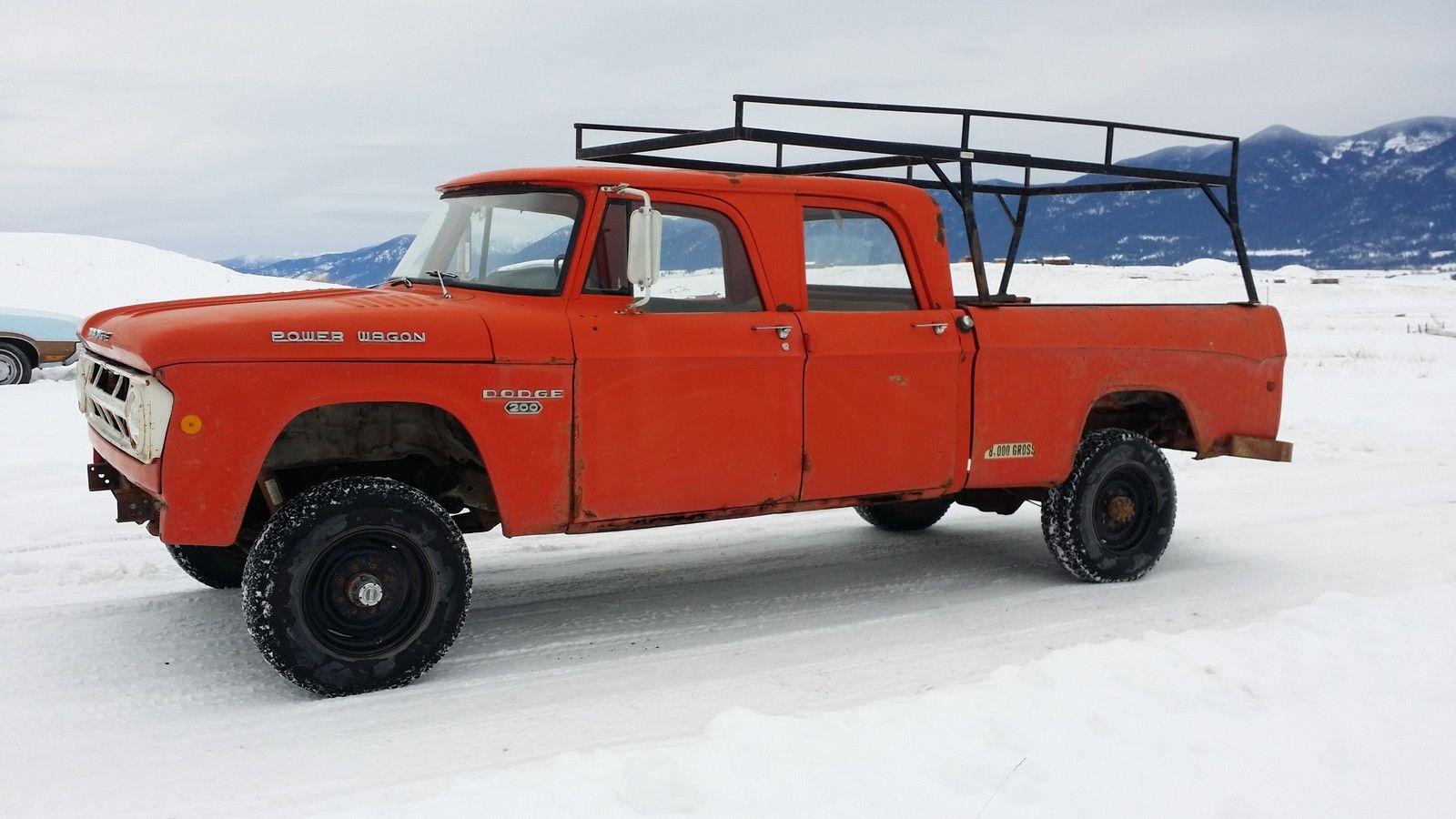 1968 Dodge Power Wagon Crew Cab W200 3 4ton 4x4sweptline Pickup Chevrolet Truck Runs Nice For Sale In Eureka Montana United States