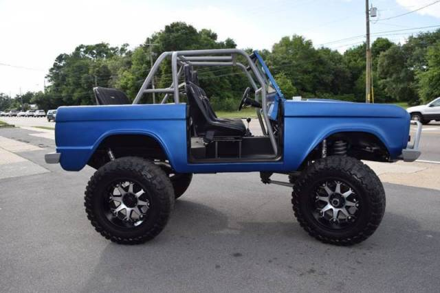 1968 ford bronco 4 500 miles blue suv v8 other manual 5 speed