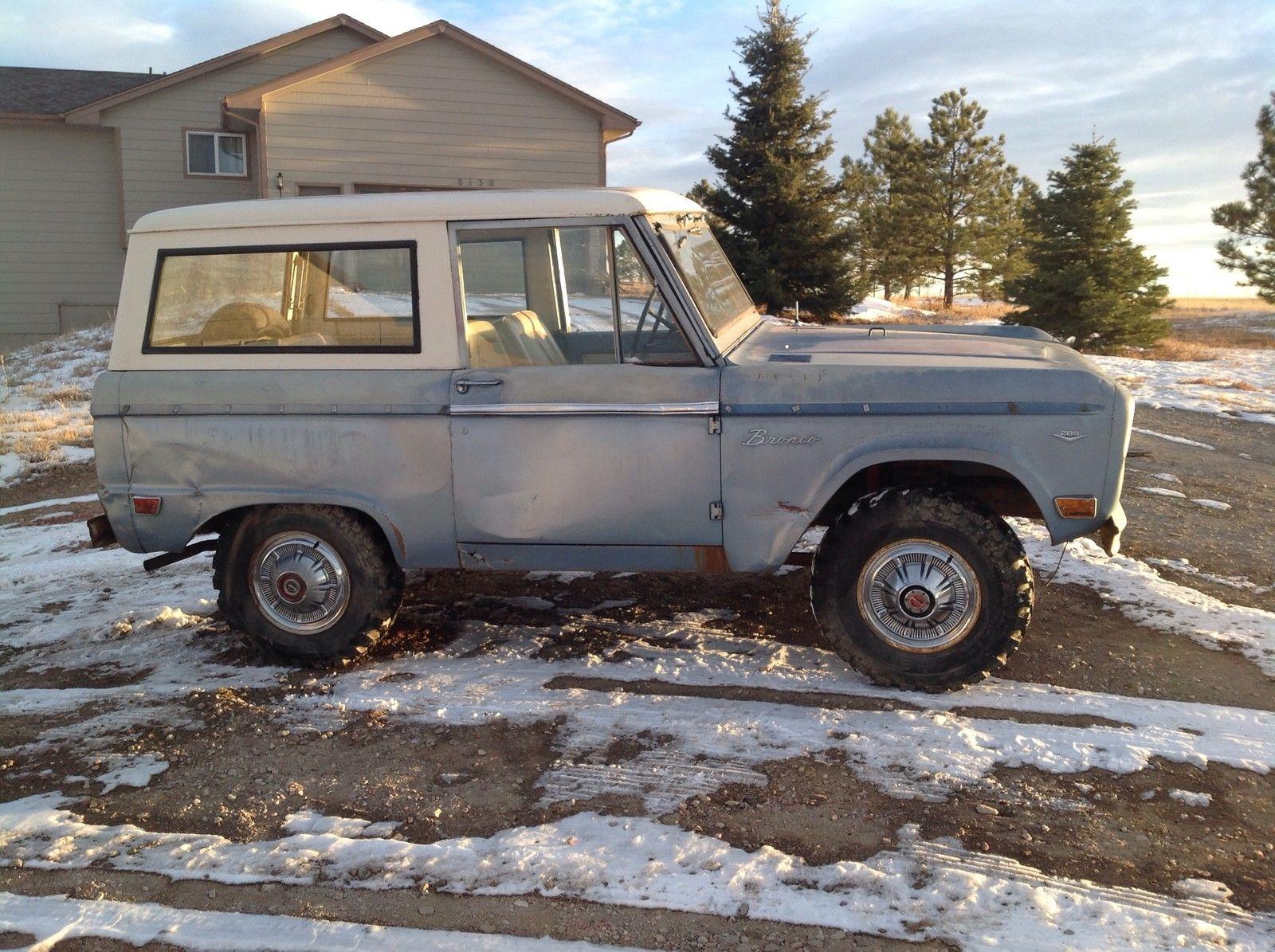 1968 ford bronco uncut original survivor 289 brittany blue 56,000 original  miles