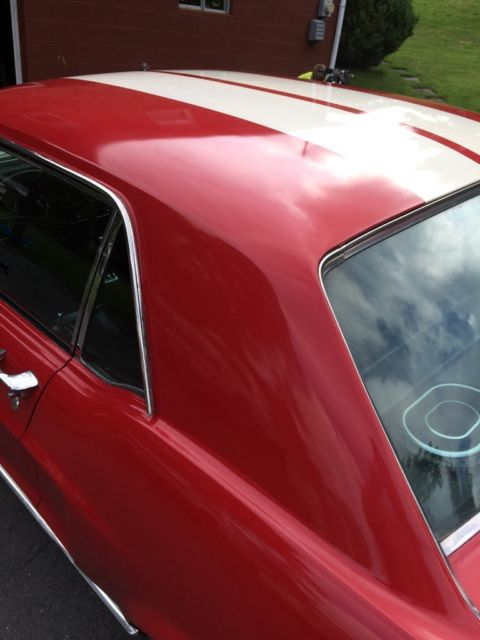 1968 ford mustang coupe red nice interior 302 4v auto runs great very clean. Black Bedroom Furniture Sets. Home Design Ideas