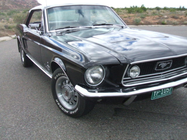 1968 mustang coupe ford classic vintage muscle car. Black Bedroom Furniture Sets. Home Design Ideas