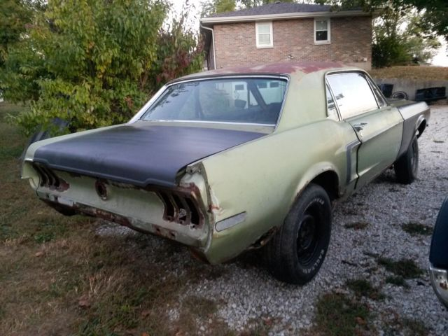1968 mustang coupe perfect for fastback conversion almost a dynacorn body. Black Bedroom Furniture Sets. Home Design Ideas