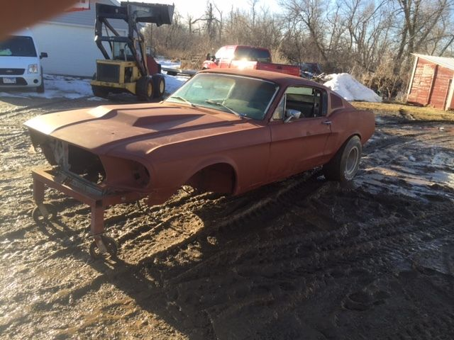 1968 Mustang Fastback Project Coupe Conversion No Reserve