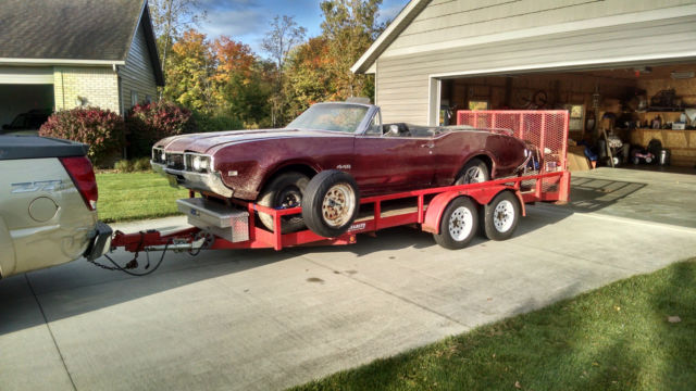 1968 olds 442 convertible project parts car. Black Bedroom Furniture Sets. Home Design Ideas