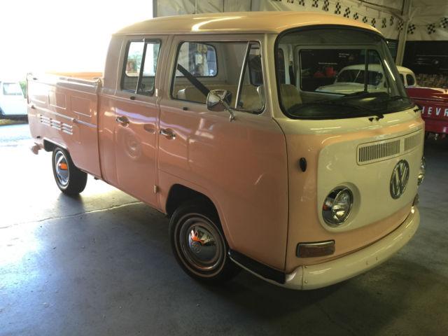 1968 Volkswagen Dual Cab 3 Door Pick Up Truck Transporter Peaches Cream Rare