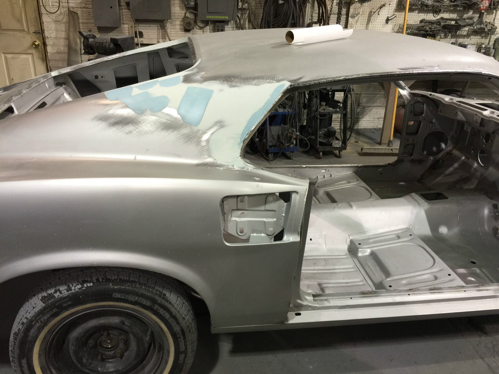 1969 1970 Ford Mustang Fastback Donor Project Body Boss Mach 1 Clone Gt Shelby