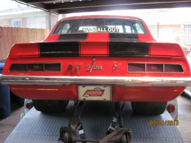 1969 Chevrolet Camaro Z 28 Tribute Ex Super Stock Race Car